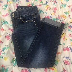 Blue cuffed ankle American Eagle jeans size 0
